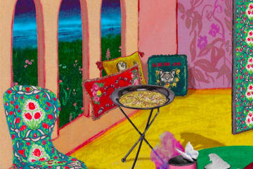 Illustration of a Gucci living room by Alex Merry