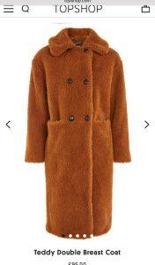 Faux fur Borg coat