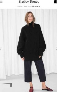 Black wool jumper from & other stories