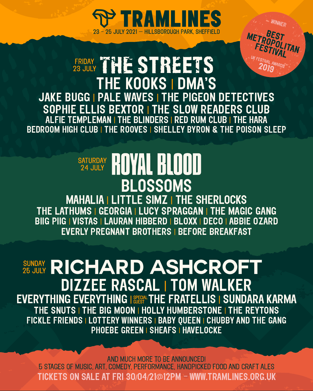 Tramlines sheffield festival 2021 line up